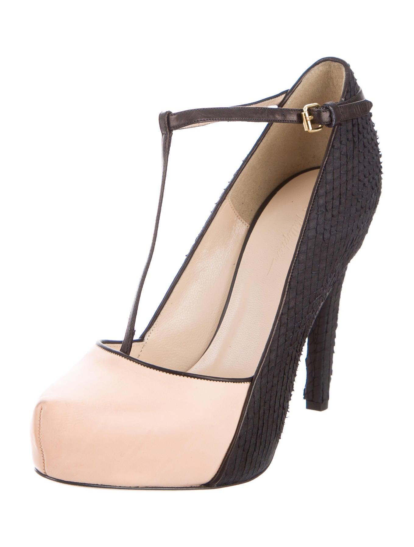 3 1 phillip lim platform t strap pumps shoes w31ph41789 the realreal. Black Bedroom Furniture Sets. Home Design Ideas