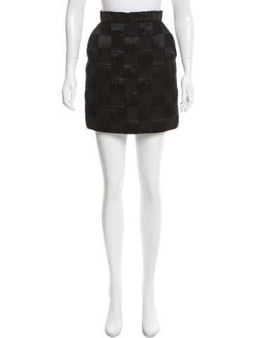 3.1 Phillip Lim Basketweave Mini Skirt None