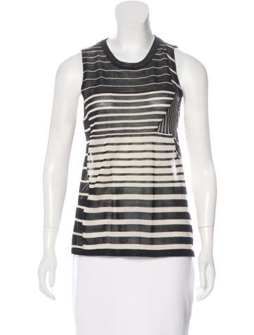 3.1 Phillip Lim Wool-Blend Sleeveless Top None