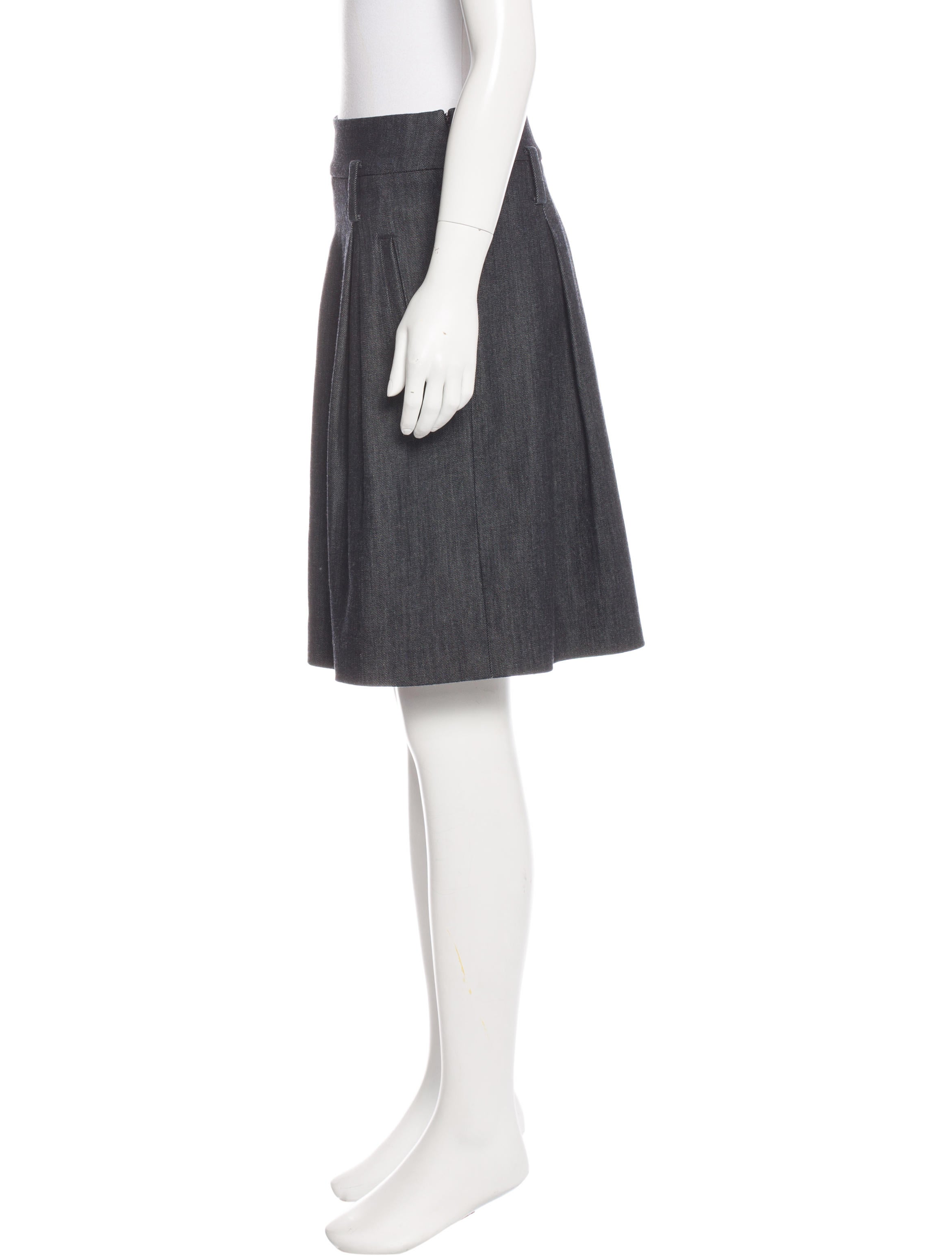 3 1 phillip lim denim flare skirt clothing w31ph42785