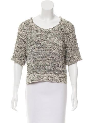 3.1 Phillip Lim Rib Knit Cropped Sweater None