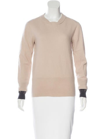 3.1 Phillip Lim Embellished Wool Sweater None