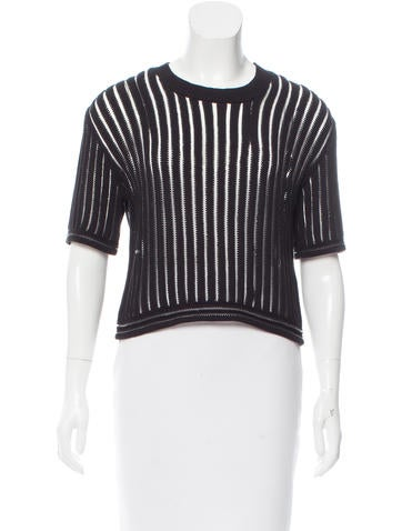 3.1 Phillip Lim Rib Knit Cropped Sweater None