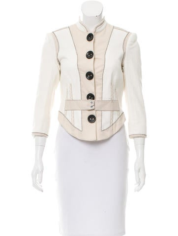 3.1 Phillip Lim Two-Tone Tailored Jacket None