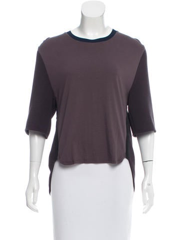 3.1 Phillip Lim High Low Silk Top None