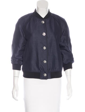 3.1 Phillip Lim Woven Bomber Jacket None