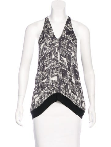 3.1 Phillip Lim Silk Printed Top None