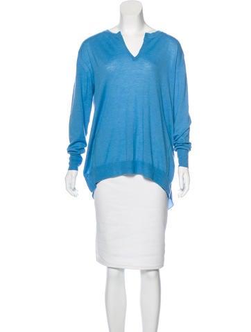3.1 Phillip Lim Wool Silk-Trimmed Sweater None
