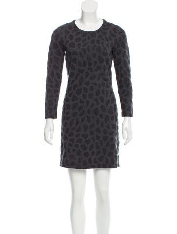 3.1 Phillip Lim Long Sleeve Wool Dress None