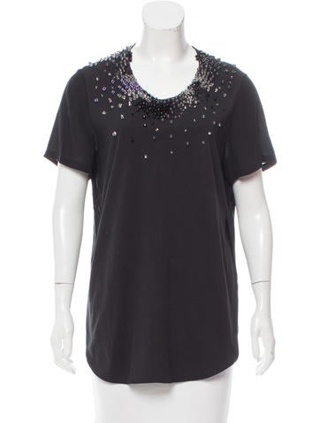 3.1 Phillip Lim Silk-Blend Embellished Tunic None