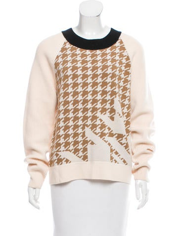 3.1 Phillip Lim Wool Houndstooth Sweater None
