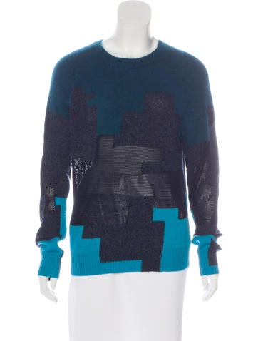 3.1 Phillip Lim Wool-Blend Colorblock Sweater None