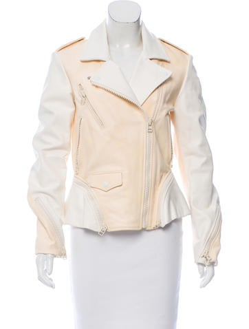 3.1 Phillip Lim Two-Tone Leather Jacket None