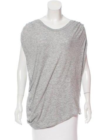 3.1 Phillip Lim Wool Blend Short Sleeve Top None