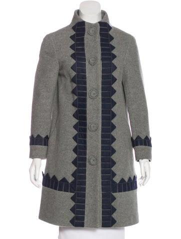 3.1 Phillip Lim Wool Appliqué-Accented Coat None