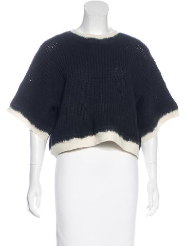 3.1 Phillip Lim Wool Cropped Sweater None