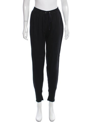 3.1 Phillip Lim Rib Knit Trimmed Jogger Pants None