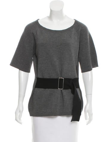 3.1 Phillip Lim Short Sleeve Wool Top None