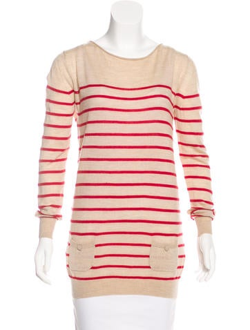 3.1 Phillip Lim Wool Striped Sweater None