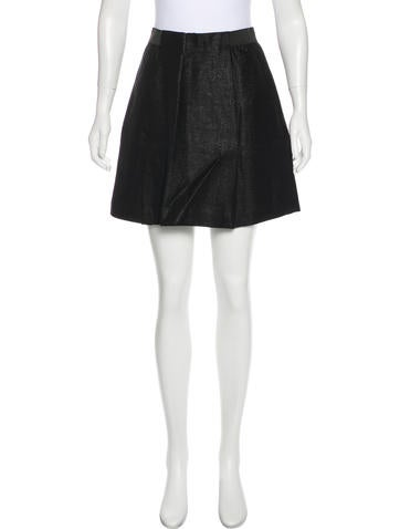 3.1 Phillip Lim Metallic Mini Skirt None