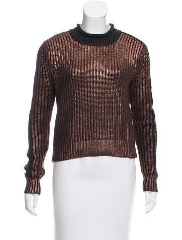 3.1 Phillip Lim Paneled Rib Knit Sweater None