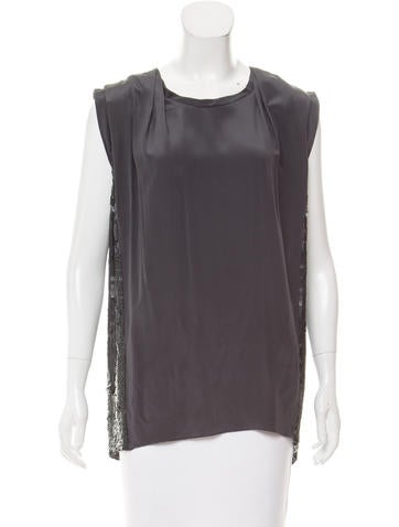 3.1 Phillip Lim Sequin-Embellished Silk Tunic None