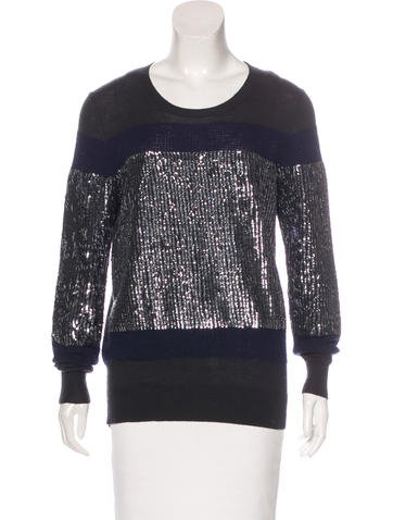 3.1 Phillip Lim Wool Sequined Sweater None