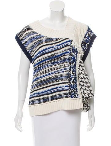3.1 Phillip Lim Asymmetrical Intarsia Knit Sweater w/ Tags None