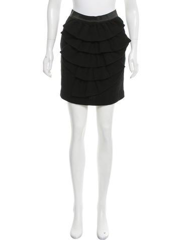 3.1 Phillip Lim Ruffle-Tiered Wool Skirt None