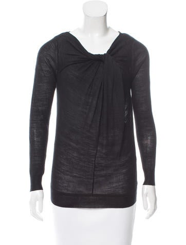 3.1 Phillip Lim Wool and Silk-Blend Top None