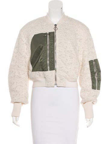3.1 Phillip Lim Lace Bomber Jacket w/ Tags None