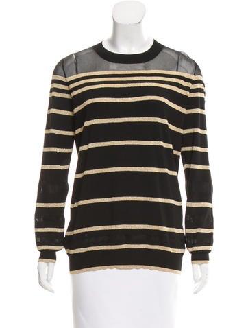 3.1 Phillip Lim Striped Rib Knit Sweater None
