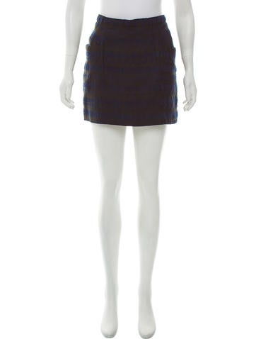 3.1 Phillip Lim Patterned Mini Skirt None