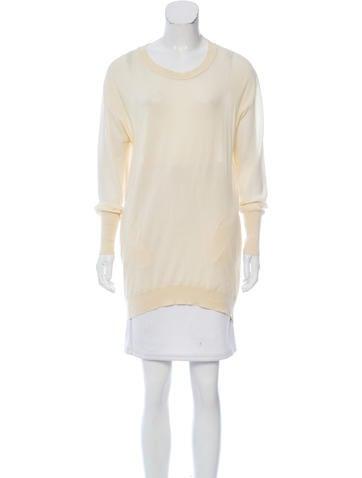 3.1 Phillip Lim Silk-Trimmed Crew Neck Sweater None