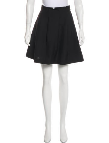 3.1 Phillip Lim Wool & Mohair Mini Skirt None