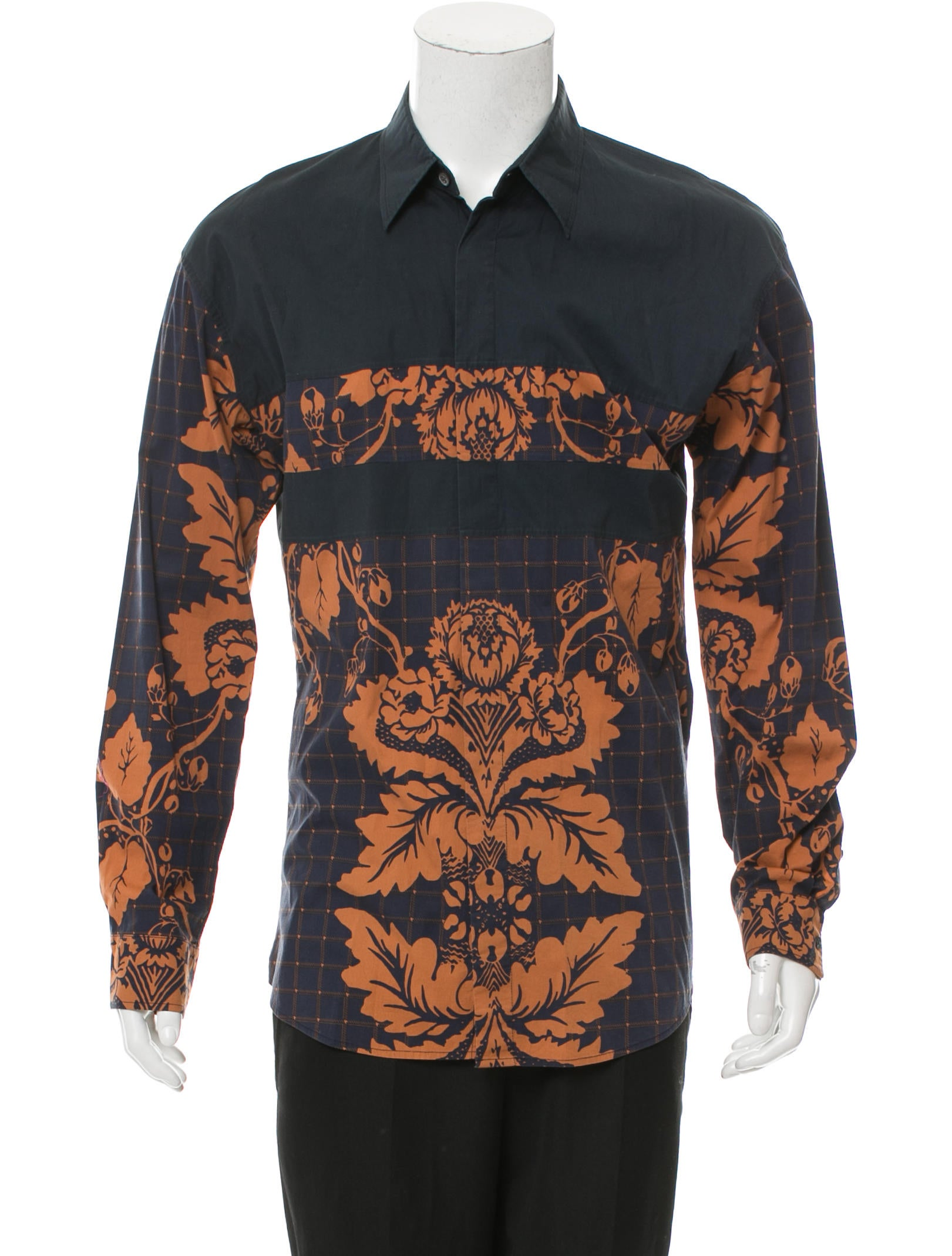 3 1 phillip lim floral print button up shirt clothing for Floral print button up shirt