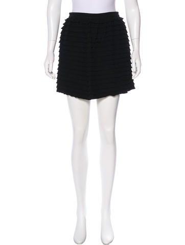 3.1 Phillip Lim Wool Tiered Skirt None
