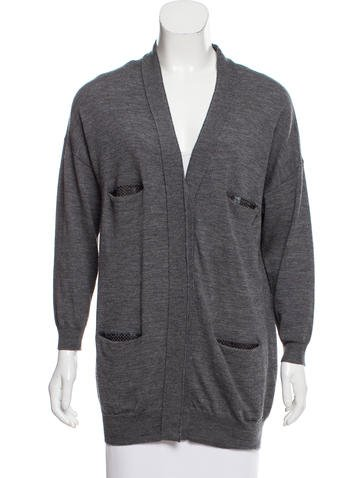 3.1 Phillip Lim Button Up Wool Cardigan None