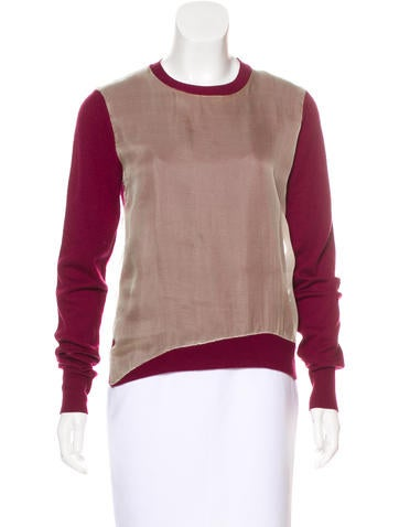 3.1 Phillip Lim Long Sleeve Knit Sweater None