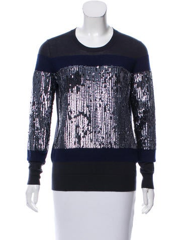 3.1 Phillip Lim Sequined Wool Sweater None