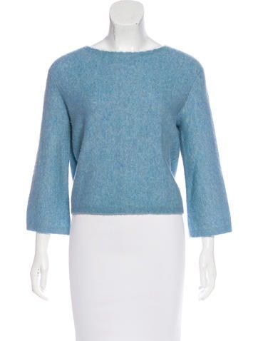 3.1 Phillip Lim Cropped Crew-Neck Sweater None