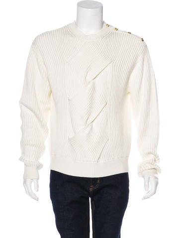 3.1 Phillip Lim Rib Knit Crew Neck Sweater None