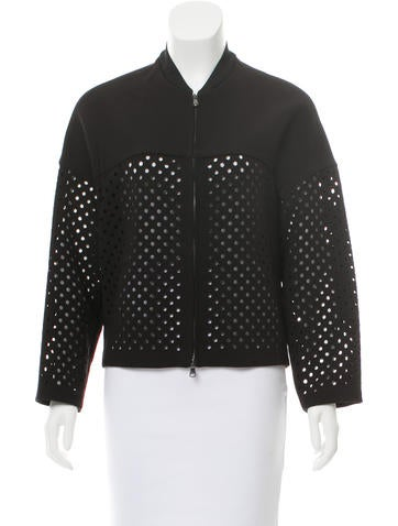 3.1 Phillip Lim Cutout Bomber Jacket None