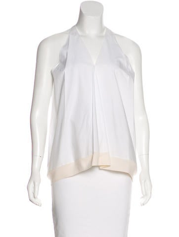 3.1 Phillip Lim Wool-Trimmed Sleeveless Top None