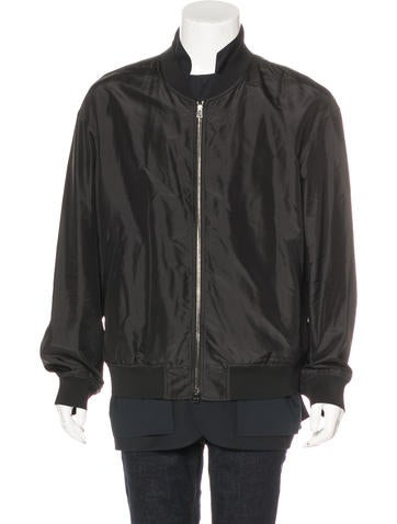 3.1 Phillip Lim 2015 Silk Layered Bomber Jacket None