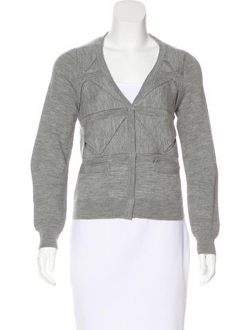 3.1 Phillip Lim Long Sleeve Wool Cardigan None