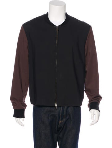 3.1 Phillip Lim Wool-Trimmed Bomber Jacket None