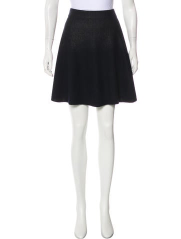 3.1 Phillip Lim Wool Flared Skirt None