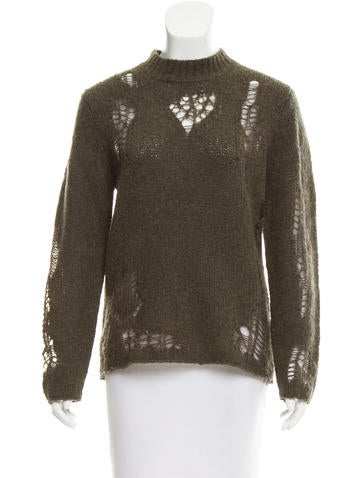3.1 Phillip Lim Distressed Wool Sweater None