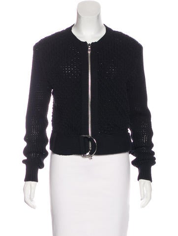 3.1 Phillip Lim Open Knit Zip-Up Jacket None